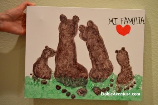 Familia de osos. Huellas