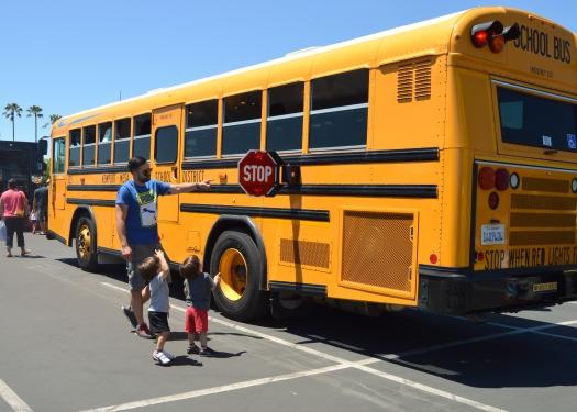 El autobus escolar fue uno de sus favoritos