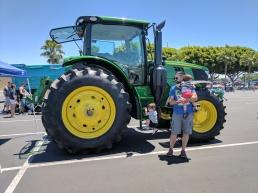 Un enorme tractor